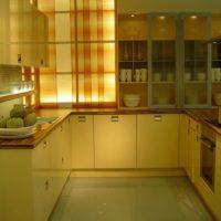 cuisine rectangulaire bel intérieur