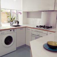 photo de dégagement de cuisine rectangulaire