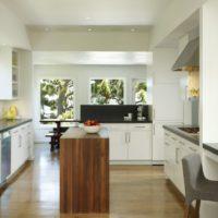 cuisine rectangulaire intérieur moderne