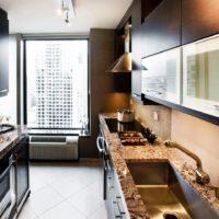 design élégant de cuisine rectangulaire