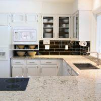 cuisine rectangulaire intérieur élégant