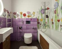 flīžu vannas istabas dizains