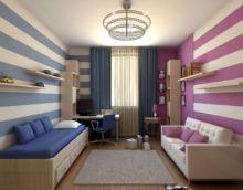 vaikų kambario zonavimas
