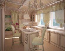 variante du design lumineux de la fenêtre dans la photo de la cuisine