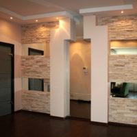 Carreaux de pierre calcaire dans le couloir