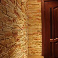 Calcaire à l'intérieur du couloir