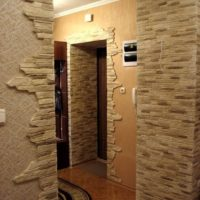 Décoration photo murs décoratifs en pierre du couloir