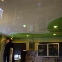 version du style inhabituel de l'image du plafond de la cuisine