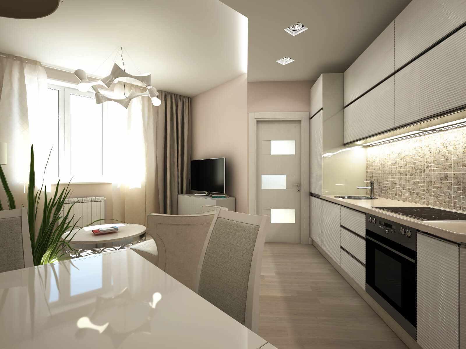 variante d'un plafond lumineux dans la cuisine