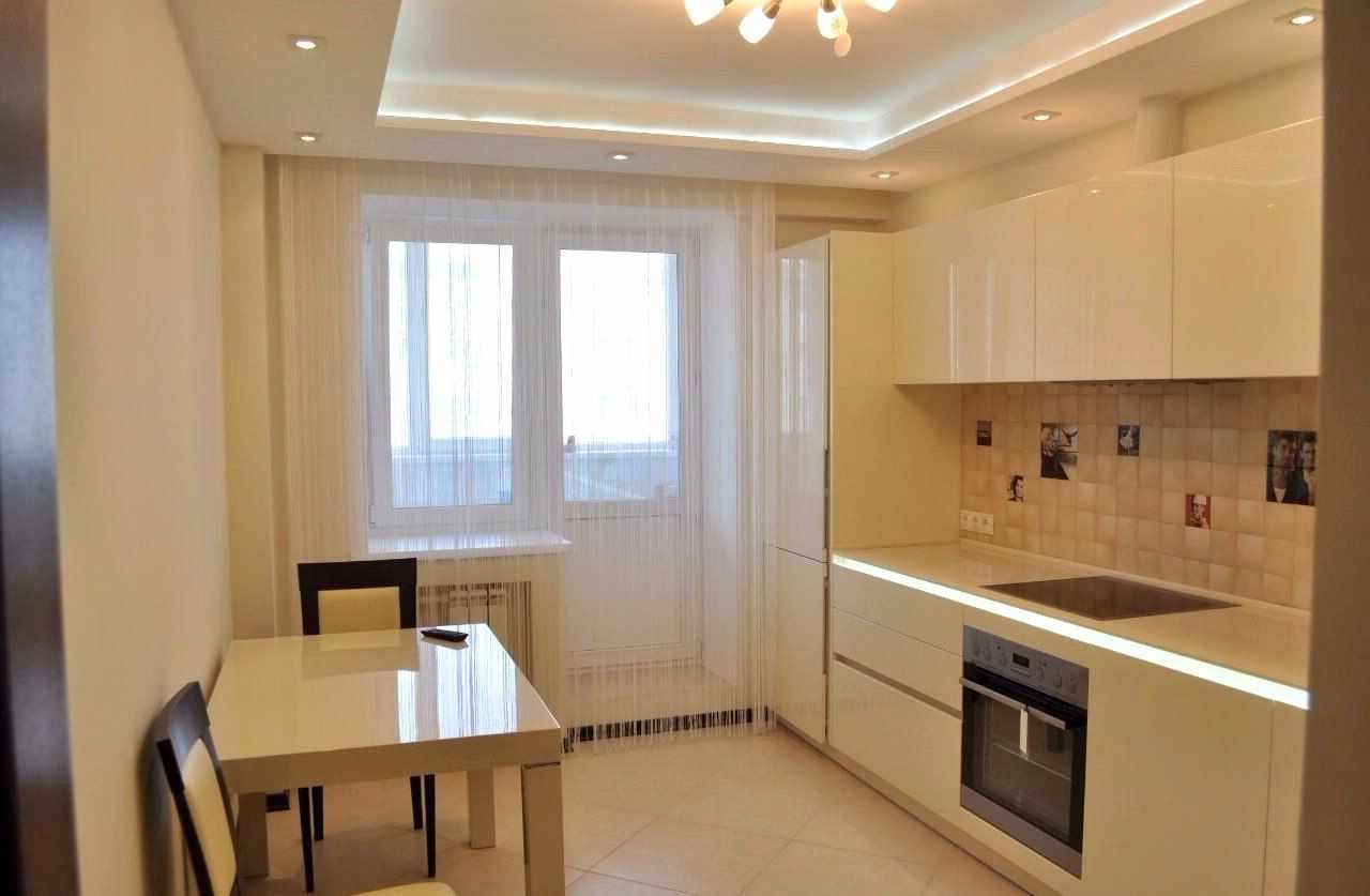 variante du design lumineux du plafond de la cuisine