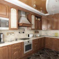 un exemple d'image de cuisine de plafond intérieur lumineux