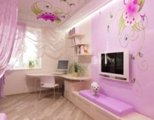 An example of a bright bedroom style for a girl picture