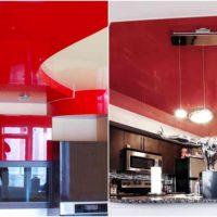 un exemple d'un plafond de style léger dans l'image de la cuisine