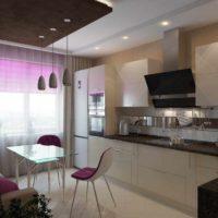 un exemple d'un beau style d'une image de plafond de cuisine