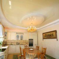option d'un plafond lumineux dans la photo de la cuisine