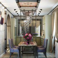 Un exemple de style lumineux d'une photo de plafond de cuisine