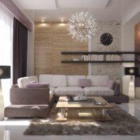 l'idée d'une décoration lumineuse de l'intérieur de la pièce photo