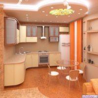 variante de l'intérieur lumineux de l'image du plafond de la cuisine