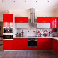 variante de l'intérieur lumineux du plafond de la cuisine photo