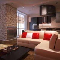 option d'une image de cuisine de plafond intérieur lumineux