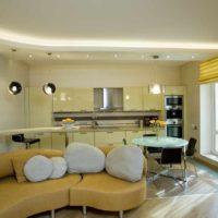un exemple de style de lumière du plafond de la photo de la cuisine