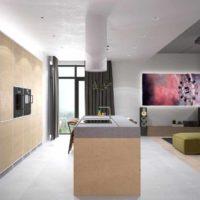 Un exemple de plafond lumineux dans la cuisine