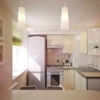 variante de l'intérieur inhabituel de l'image du plafond de la cuisine