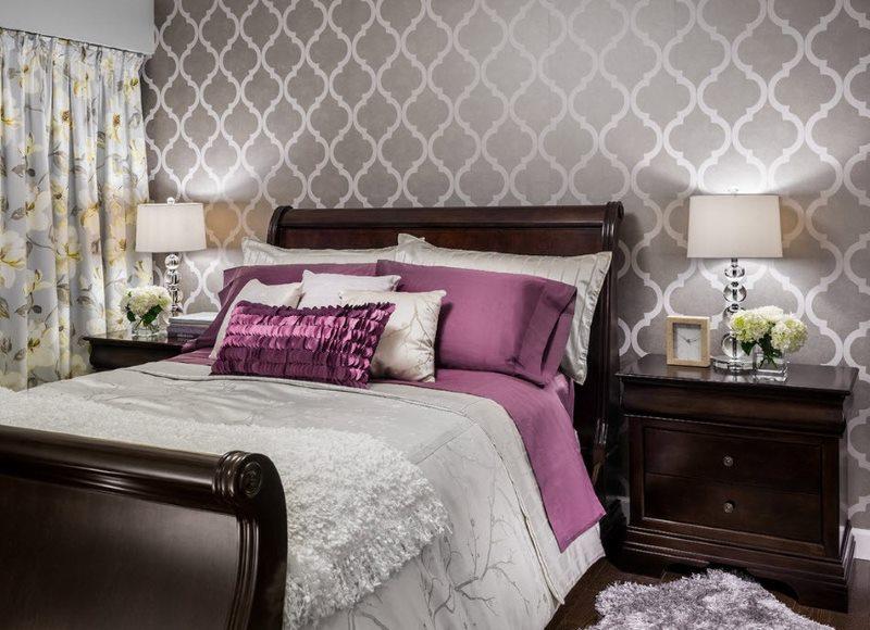 Bilik Tidur Dengan Perabot Gelap Contoh Reka Bentuk Dan Hiasan Dalaman