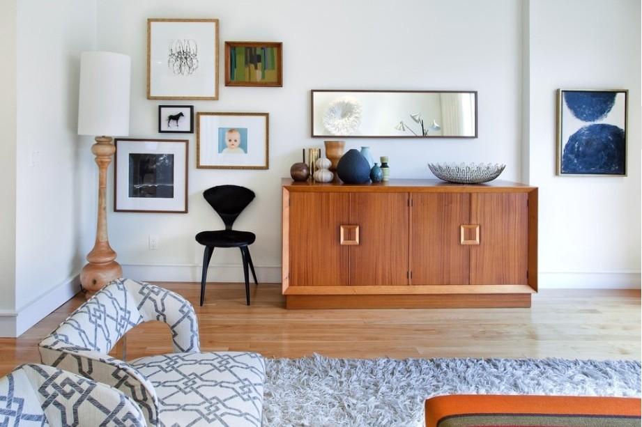 Telpu dizaina noformējums ar dekoratīviem priekšmetiem