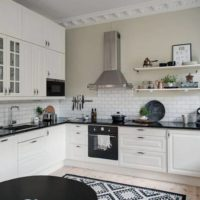 Finition légère dans une cuisine moderne