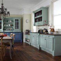Style rustique dans la conception de la cuisine.