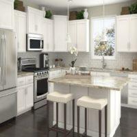 Îlot de cuisine dans un intérieur moderne
