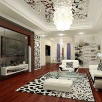 Melnbaltās krāsas kombinācija telpas dizainā