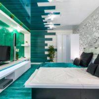 Smaragda krāsa virtuves dizainā