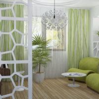 Viesistabā zaļas nokrāsas