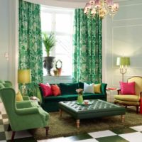 Zaļums istabas dizainā