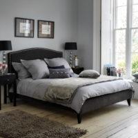Light wood flooring bedroom