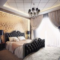 Bright light from a window in a bedroom with a dark interior