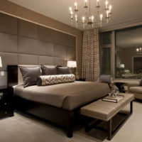 City apartment bedroom lighting