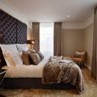 An abundance of shades of brown in the bedroom