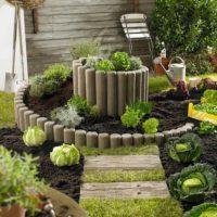 Spirālveida gulta dārzeņu audzēšanai