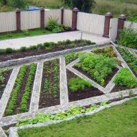 Skaists dārza gultas dizains