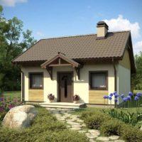 Nelielas dārza mājas dizains