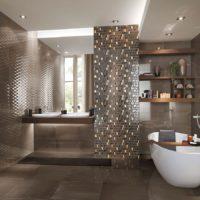 Mozaīkas vannas istabas dizains
