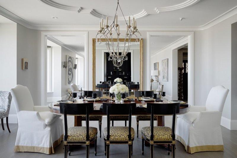 Dzīvojamās istabas dizains mūsdienu klasiskajā stilā