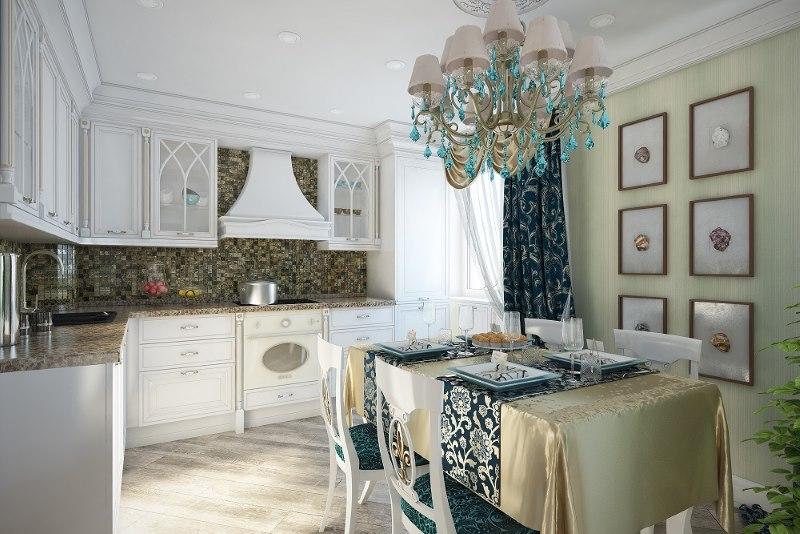 Une combinaison contrastée de finitions et de textiles en cuisine