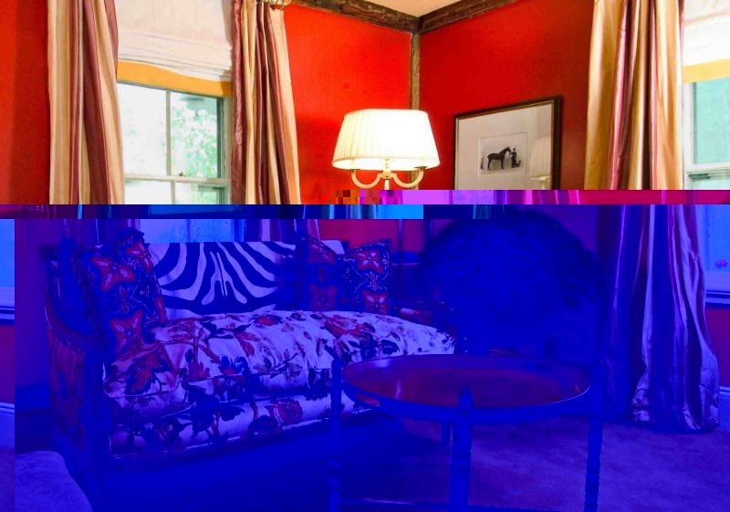 Sarkanā krāsa viesistabas dizainā