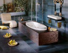 Vidusjūras stila lielas vannas dizains