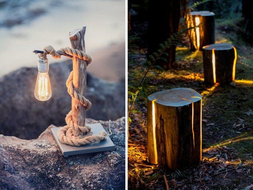 DIY dekoratīvās dārza gaismas