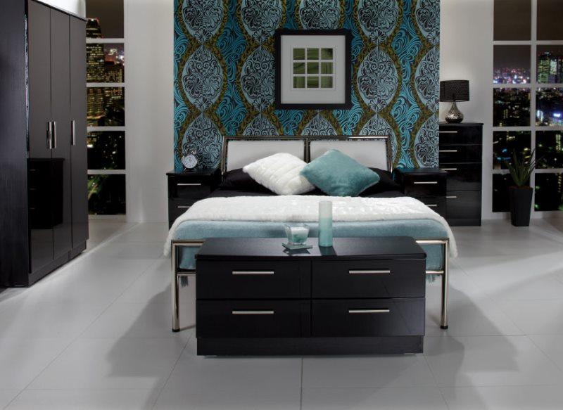 Minimalist style dark bedroom design